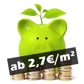 schon ab 2,7€/m² - Ökorent
